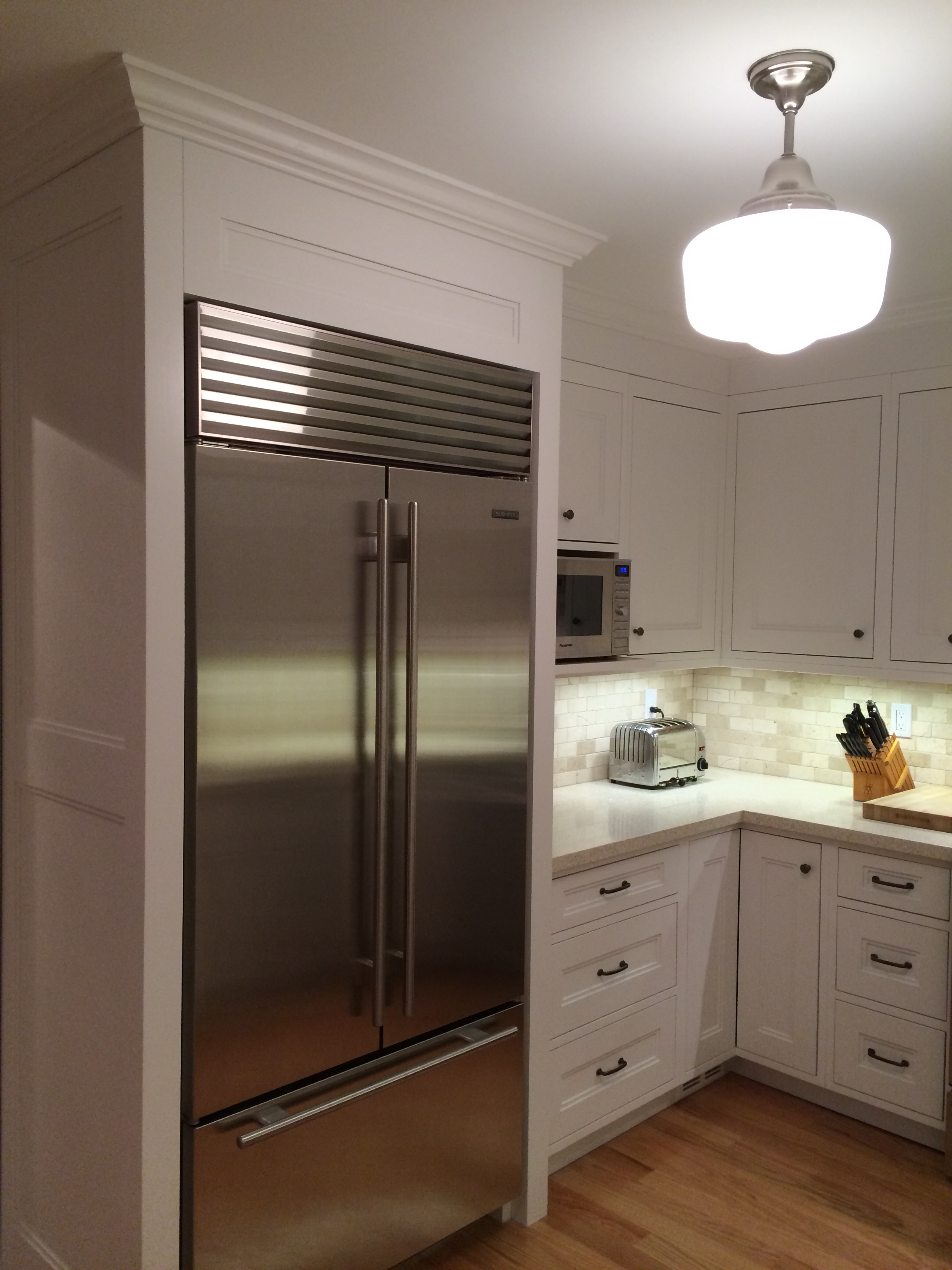 Heritage Carpentry Company » Built-in fridge surround