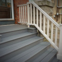 railing and stairs on porch