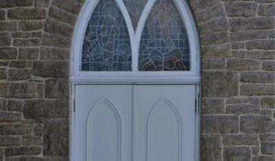Reproduction Solid Mohogany Insulated Church Doors (Exterior)