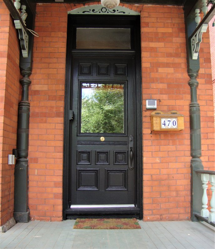 Restored Front Door With Upgraded Insulated Glazing